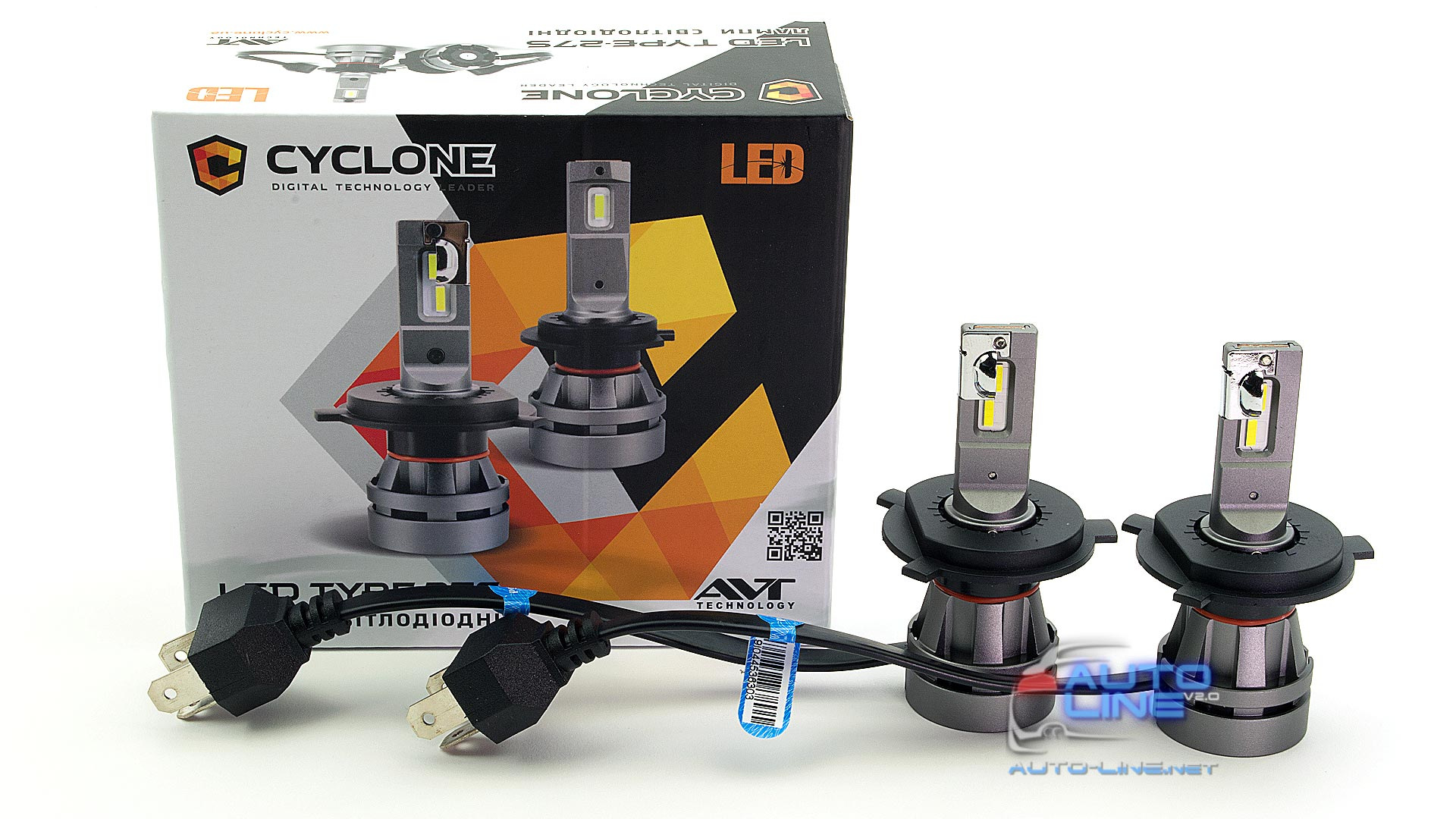 Фото 1 - Cyclone LED H4 H/L 5000K 5100Lm CR type 27S