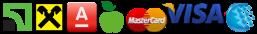 ПриватБанк, Райффайзен Банк Аваль, Альфа-Банк, А-Банк, MASTERCARD, VISA, WEBMONEY