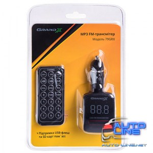 FM-трансмиттер Grand-X CUFM79GRX, AUX, USB 0.5A, SD card, 3.5mm mini-jack (CUFM79GRX)