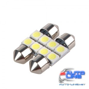 Лампы PULSO/софитные/LED SV8.5/T11x31mm/4 SMD-5050/12v/White (LP-85314)