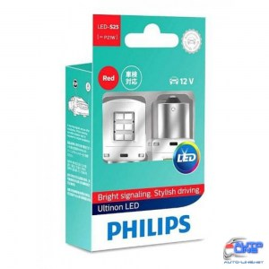 Габарит LED Philips P21W RED Ultinon 12V 11498ULRX2 (2шт)