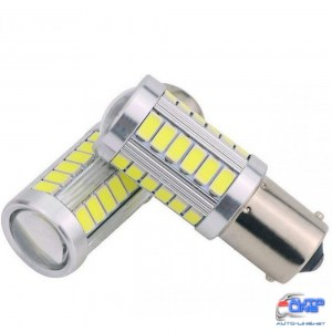 Габарит LED IDIAL 475 P21W 33 SMD High power BA15S 450 lm 6000K 12Vбл. (2шт)