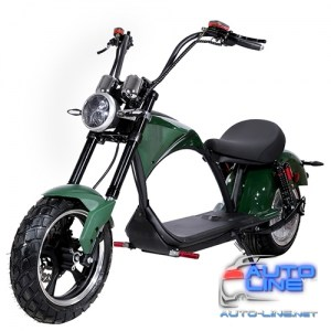 Электроскутер Chopper 2000W, 60V20Ah, Green (r804-m3/2000Gn)