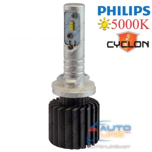 Cyclon LED H27(880) 5000K 4000Lm PH type 2 — светодиодная лампа H27 (880/881) 5000K, Philips ZES LED