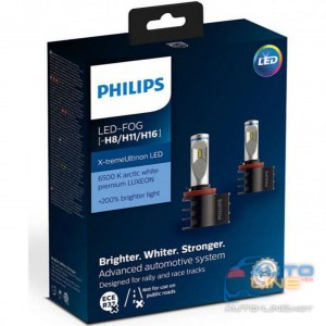 PHILIPS 12794UNIX2 X-tremeUltinon +200% LED Fog H8/H11/H16 X2 - LED-лампы H8/H11/H16, 6500 К