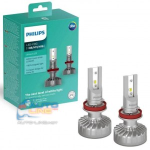 Philips Ultinon FOG H8/H11/H16 LED 11366ULWX2 — автомобильные LED-лампы H11