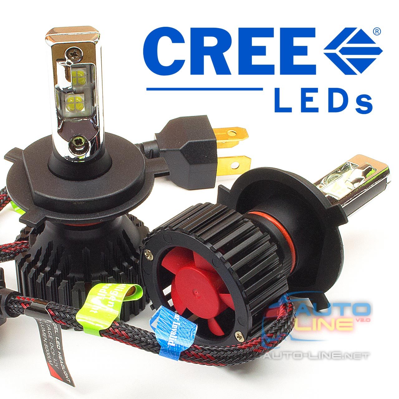 Pulso T8 H4 H/L 6000K 8000Lm LED-chips CREE-XHP50